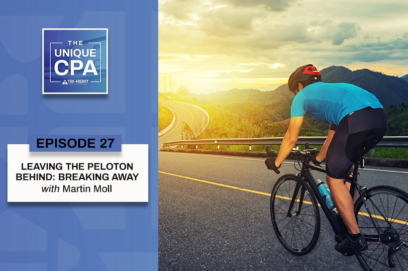 Banner Feature Image The Unique CPA Martin Moll - Leaving the Peloton Behind: Breaking Away - Tri-Merit