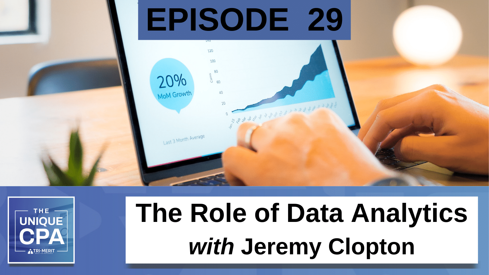 Unique CPA Featured Image Ep 29 Jeremy Clopton - The Role of Data Analytics - Tri-Merit
