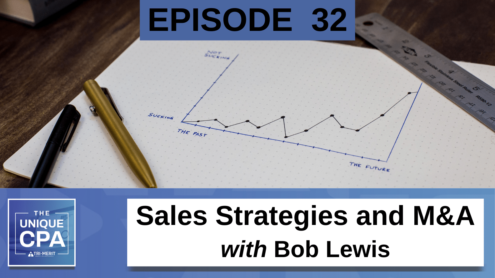 Unique CPA Featured Image Ep 32 Bob Lewis - Sales Strategies and M&A - Tri-Merit
