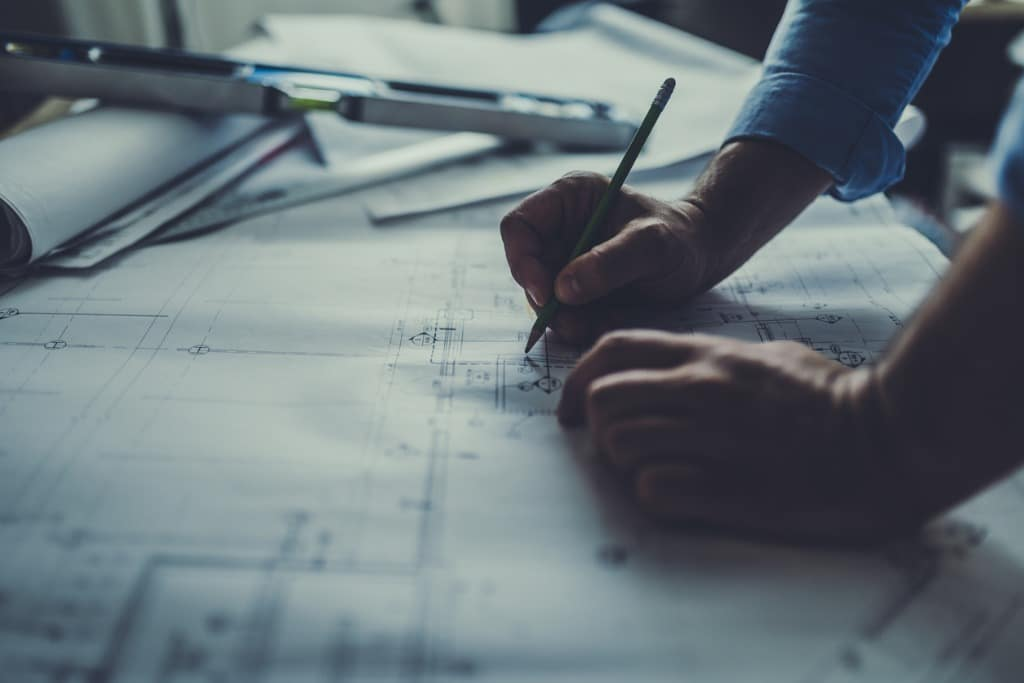 drawing-on-blueprints