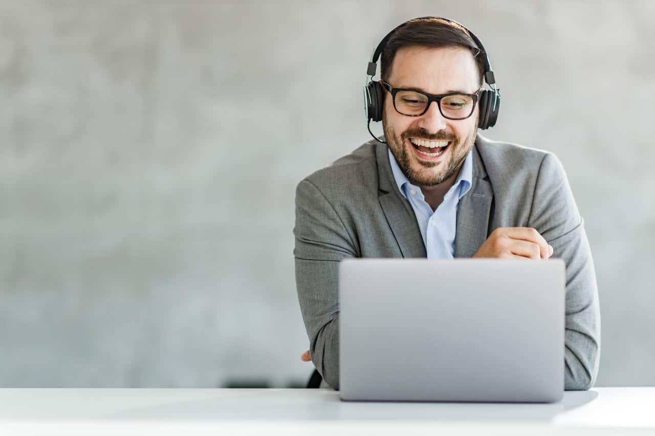 man smiling webinar - ERC - Tri-Merit