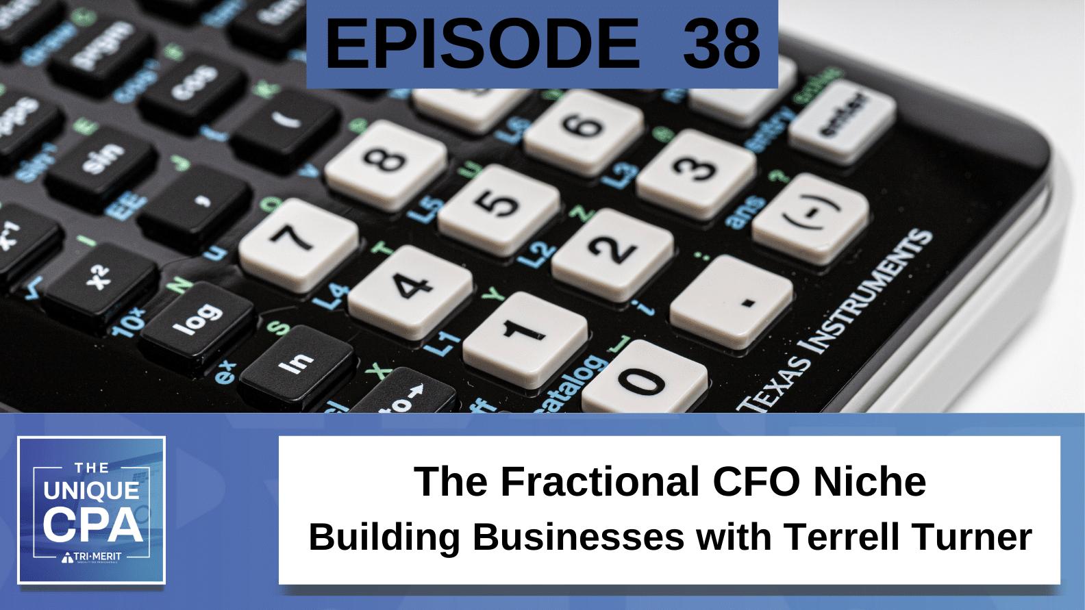 Unique CPA Featured Image Ep 38 Terrell Turner 1 - The Fractional CFO Niche - Tri-Merit